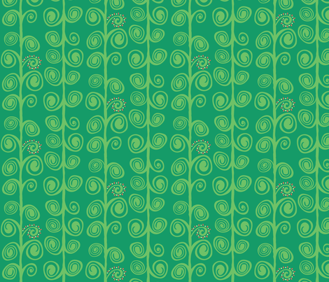 Bean Stock Green fabric by elisabeth_demoo on Spoonflower - custom fabric