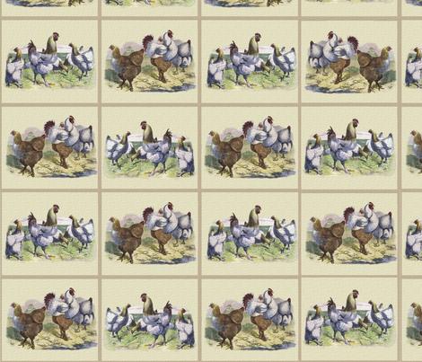 Chicken Tiles fabric by jabiroo on Spoonflower - custom fabric