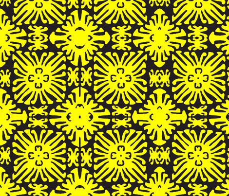 daisy doll black fabric by nascustomlife on Spoonflower - custom fabric