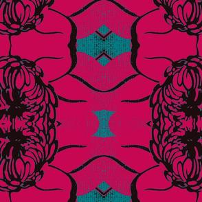 Double daisy hot pink