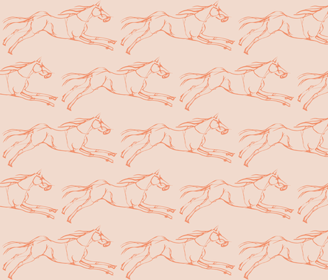 horse sketch fabric by anieke on Spoonflower - custom fabric