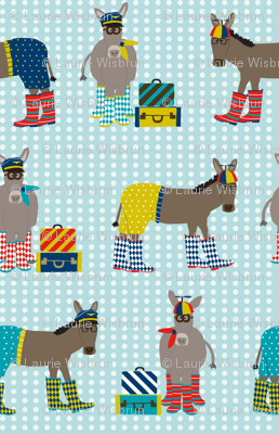 Donkeys in Beanie Hats and Boots
