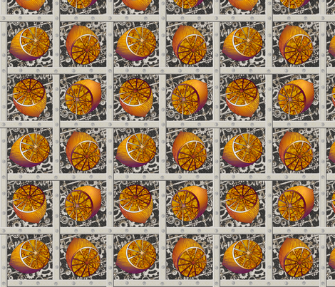 steampunk_lemons fabric by glimmericks on Spoonflower - custom fabric