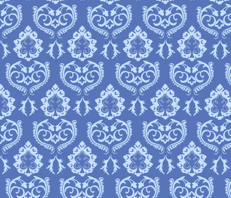 Damask Small fabric by lizzie_darcy_fashion on Spoonflower - custom fabric