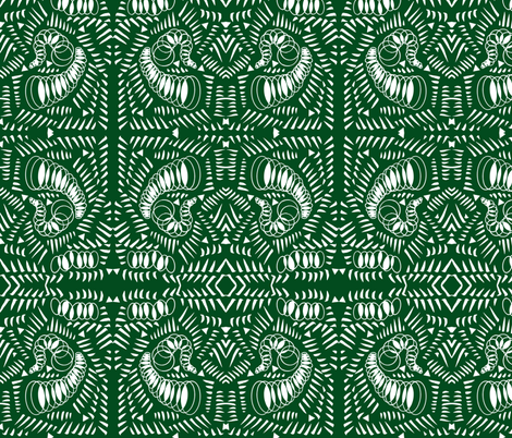 Strokes and Springs Abstract - Green fabric by telden on Spoonflower - custom fabric