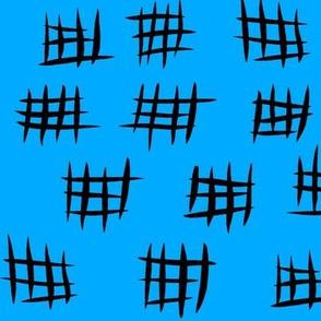 Unity Crosshatch - Turquoise Inverted