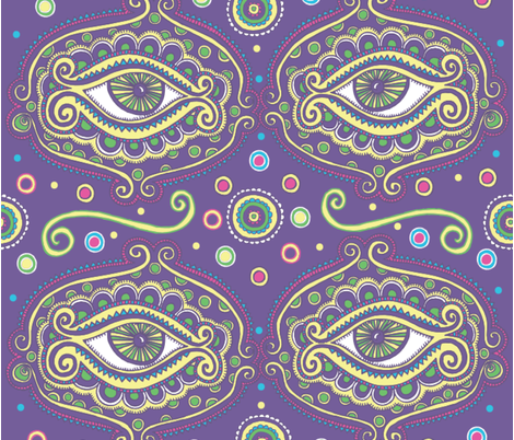 Fat Tuesday fabric by kirsten_miller on Spoonflower - custom fabric
