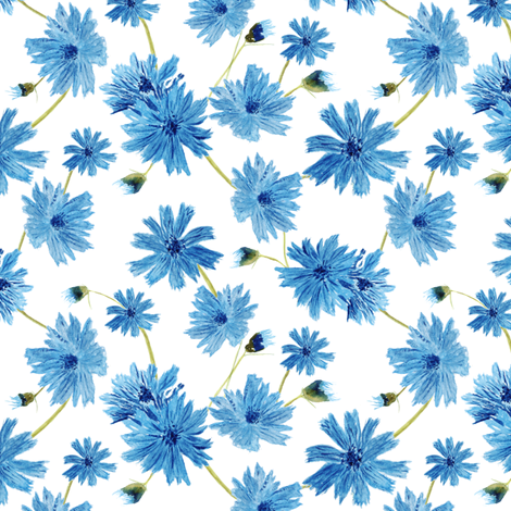 Cupid's Dart Flowers fabric by de-ann_black on Spoonflower - custom fabric