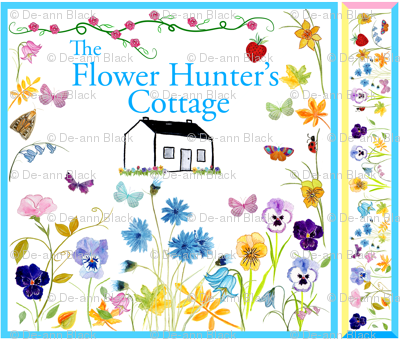 Flower Hunter's Cottage Silk Scarves