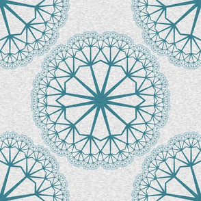 FlowerLinens - Turquoise