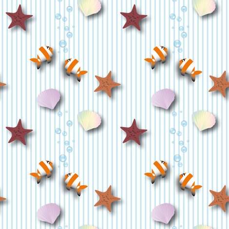 Australian_sea fabric by vannina on Spoonflower - custom fabric