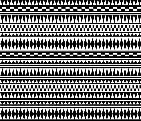 Aztec Black and White fabric by kimsa on Spoonflower - custom fabric