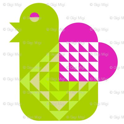 Bird with a Valentine Heart