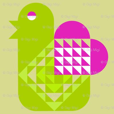 Bird with a Valentine (Heart)