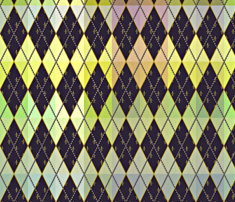 Argyle de Mardi Gras - Muted - Contest Scale fabric by glimmericks on Spoonflower - custom fabric