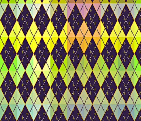 Argyle de Mardi Gras - Bright - Contest Scale fabric by glimmericks on Spoonflower - custom fabric