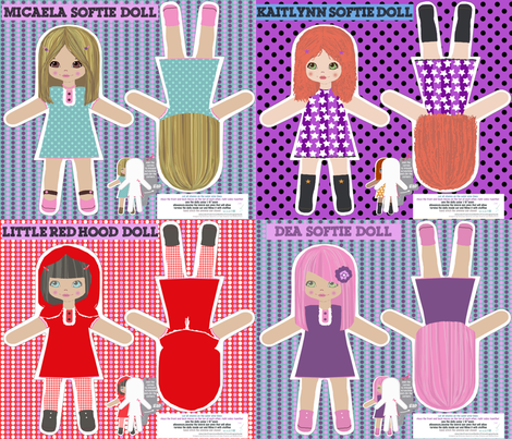 dolls: little red hood and others fabric by katarina on Spoonflower - custom fabric