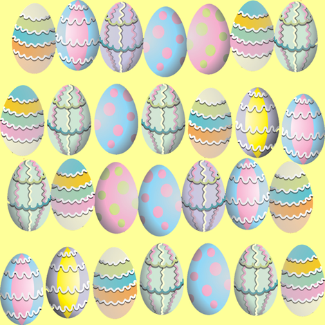 easter eggs fabric by krs_expressions on Spoonflower - custom fabric