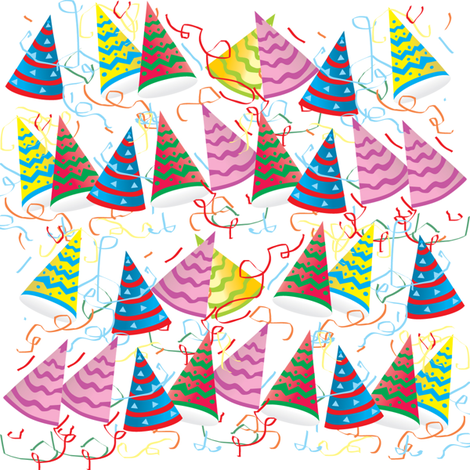 party hats fabric by krs_expressions on Spoonflower - custom fabric