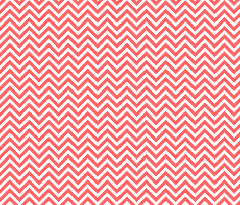 Coral Chevron fabric by sweetzoeshop on Spoonflower - custom fabric