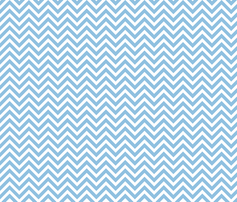 Sky Blue Chevron fabric by sweetzoeshop on Spoonflower - custom fabric