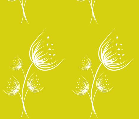bouquet_canetadofundo verdeclaro fabric by ana_somaglia on Spoonflower - custom fabric