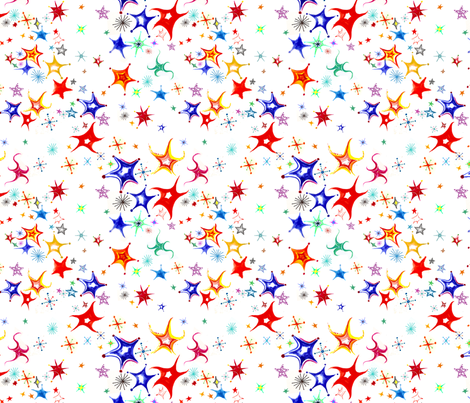 Dancing stars fabric by konoko on Spoonflower - custom fabric
