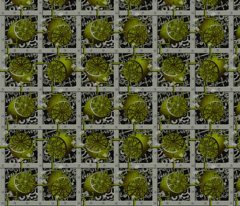 Steampunk Limes - Full Steam Ahead fabric by glimmericks on Spoonflower - custom fabric