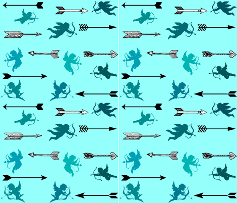 CUPIDS ARROWS fabric by bluevelvet on Spoonflower - custom fabric