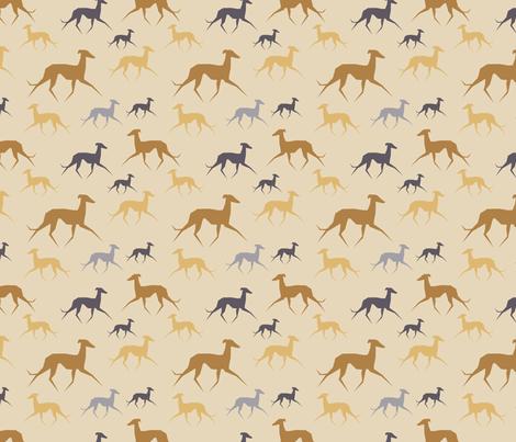 Italian Greyhound beige fabric by lobitos on Spoonflower - custom fabric