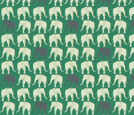 elephant_emerald fabric by holli_zollinger on Spoonflower - custom fabric