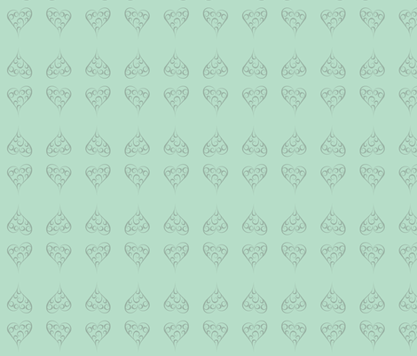Antique China Hearts fabric by smuk on Spoonflower - custom fabric