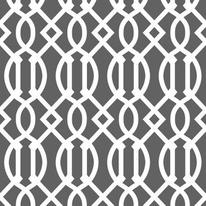 Charcoal Gray Trellis
