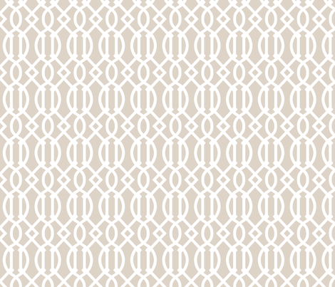 Trellis Fabric linen beige trellis fabric - sweetzoeshop - spoonflower