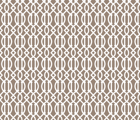 Mocha Brown Trellis fabric by sweetzoeshop on Spoonflower - custom fabric