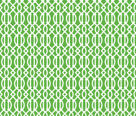 Kelly Green Trellis fabric by sweetzoeshop on Spoonflower - custom fabric