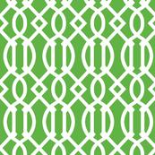 Isobar Durable Wallpaper Kelly Green Trellis