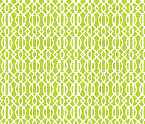 Apple Green Trellis fabric by sweetzoeshop on Spoonflower - custom fabric