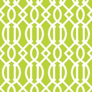 Apple Green Trellis