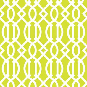 Lime Green Trellis