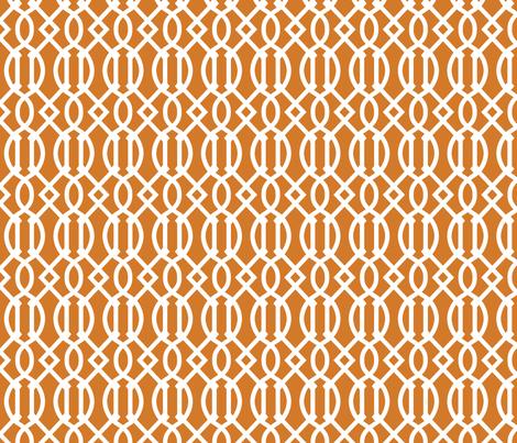 Burnt Orange Trellis fabric by sweetzoeshop on Spoonflower - custom fabric