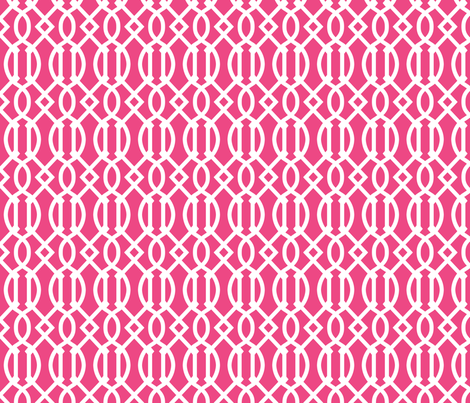 Trellis Fabric hot pink trellis fabric - sweetzoeshop - spoonflower