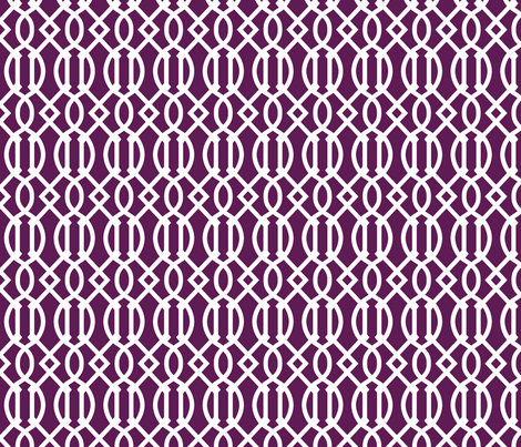 Trellis Fabric plum purple trellis fabric - sweetzoeshop - spoonflower