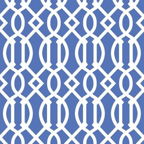 Royal Blue Trellis