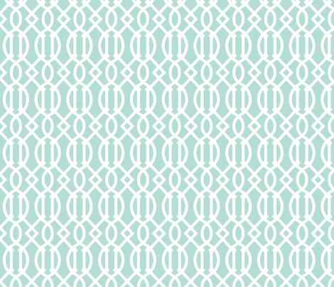 Mint Trellis fabric by sweetzoeshop on Spoonflower - custom fabric