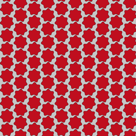 Red Blobs Ditsy fabric by telden on Spoonflower - custom fabric