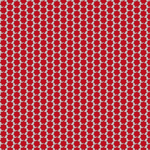 Red Blobs Ditsy