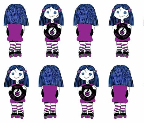 Large Purple Rocking Derby Doll fabric by derbymom716 on Spoonflower - custom fabric