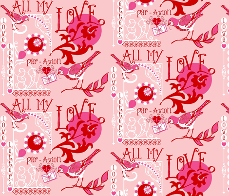 All My Love  fabric by paragonstudios on Spoonflower - custom fabric