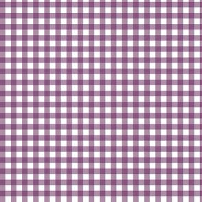 Plum Purple Gingham